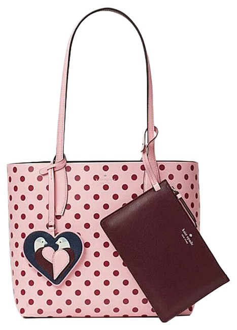 Item - Reversible Arch Love Birds Small Charm 3-in-1 Multi-color Leather Tote