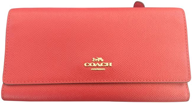 Item - Bright Red Trifold In Crossgrain Leather 79868 Wallet