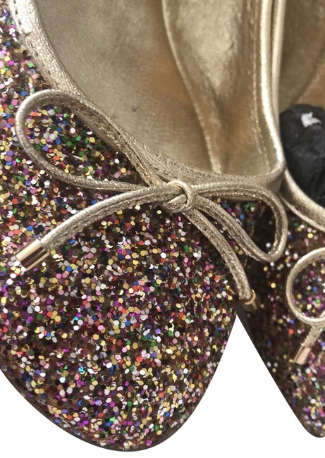 Item - Golden Multi Coarse Glitter 123 Walsh Flats Size US 8 Regular (M, B)