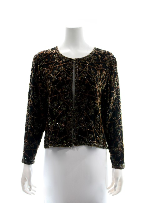 Item - Multicolor Silk Beaded & Sequined Medium Jacket Size 10 (M)