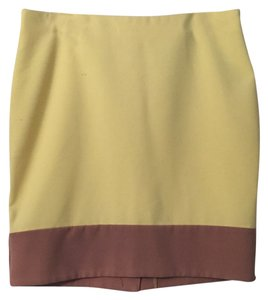 New York & Company Skirt Yellow and beige
