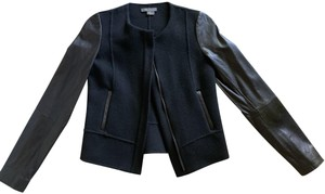 VINCE Jeans Blazer black Leather Jacket