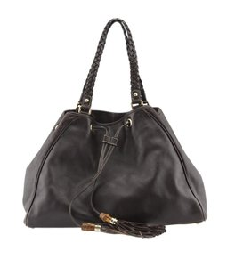 Gucci Leather Bags Drawstring Peggy Leather Tote in Brown