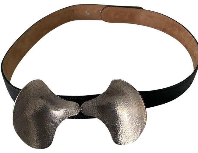 Item - Black Clam Shell Bow Leather Belt