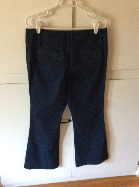 INC International Concepts Dark Wash Regular Fit Good Condition Flare Leg Jeans-Dark Rinse