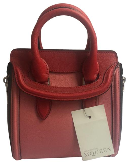 Item - Mini Heroine Pink Red Black Leather Satchel