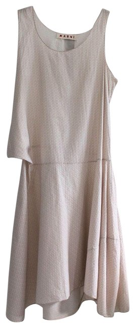 Item - Light Pink Dotted Summer Mid-length Short Casual Dress Size 6 (S)