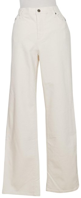 Item - Natural Beige Super Stretch Classic Slimming 14 Straight Leg Jeans Size 36 (14, L)