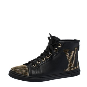 Louis Vuitton Leather Studded Black Athletic