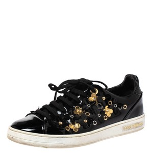 Louis Vuitton Embellished Patent Leather Black Athletic