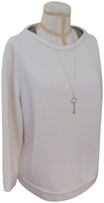 Item - Sweatshirt with Silver Mesh At Shoulders Xxl Ivory Sweater