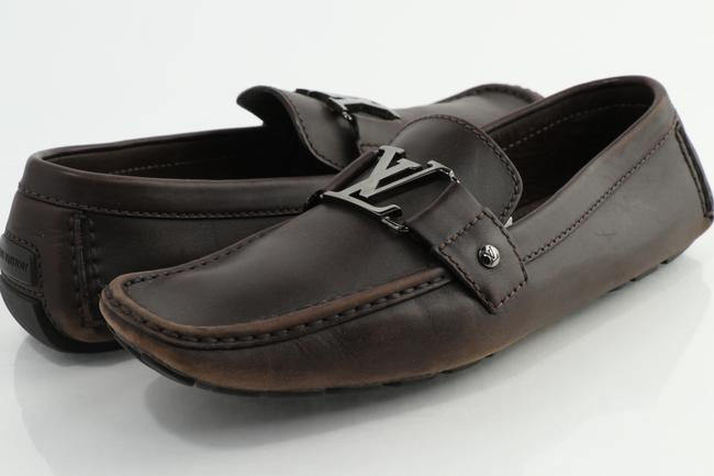 Louis Vuitton Brown Monte Carlo Mocassin Loafers Shoes Louis Vuitton Brown Monte Carlo Mocassin Loafers Shoes Image 1
