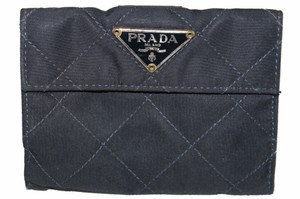 Prada Prada Navy Blue Nylon Small Compact Wallet