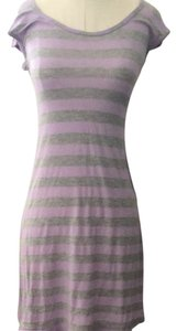 Anthropologie short dress Grey And Purple on Tradesy