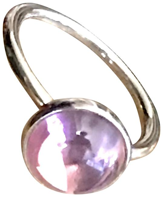 Item - Pink Opalescent Crystal Sterling Silver Size 7 Ring