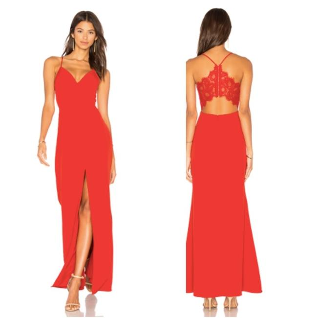 Item - Red Helena Long Formal Dress Size 2 (XS)