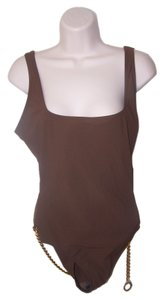 Michael Kors Michale Kors womens size 10 one piece brown swim suit NWT
