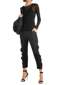Stella McCartney Ruched Cropped Haram Tina Relaxed Pants Black