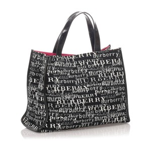 Burberry Glj0ebuto001 Vintage Patent Leather Tote in Black
