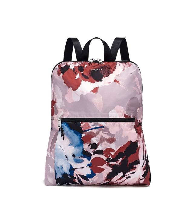 Item - New 2pcs Packable Foldable Floral Lightweight Travel Pink Nylon Backpack