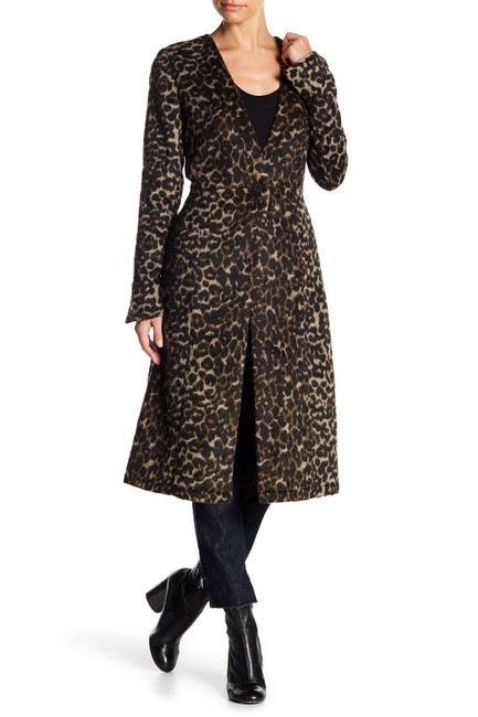 Item - Animal Print One Button Duster Jacket Coat Size 8 (M)