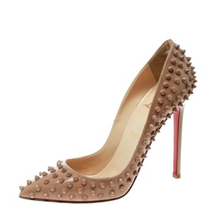Christian Louboutin Spike Beige Pumps