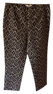 Chico's Ikat Pattern Skinny Skinny Pants Black and White