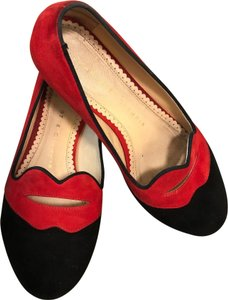 Charlotte Olympia Red/Black Flats