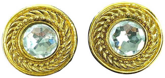 Item - Gold Jumbo Crystal Faux Diamond 3ca522a Earrings