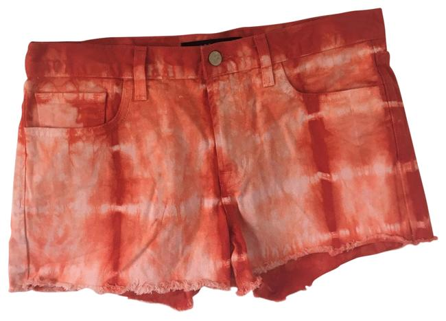 J Brand Red Cherry Tomato Tie Dyed / 28 Shorts Size 6 (S, 28) J Brand Red Cherry Tomato Tie Dyed / 28 Shorts Size 6 (S, 28) Image 1