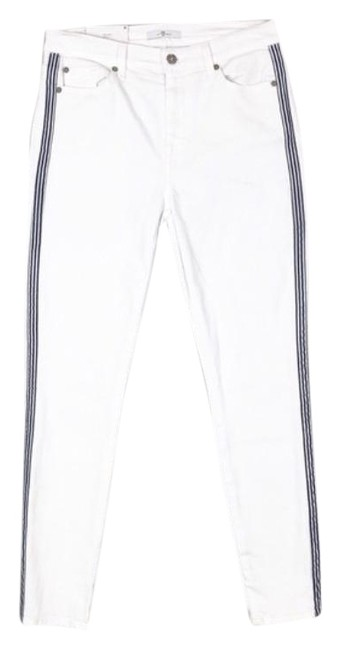 Item - White Light Wash High Waist Ankle Skinny Jeans Size 30 (6, M)