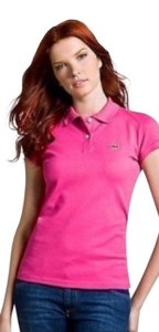 Lacoste T Shirt hot pink