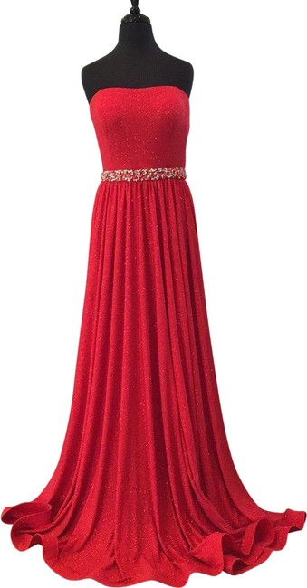 Item - Red 02379a Long Formal Dress Size 12 (L)