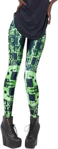 Blackmilk Circuit Board Green Leggings