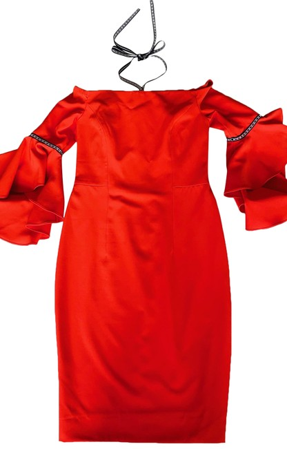Item - Red Spring Mid-length Night Out Dress Size 12 (L)