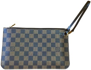 Louis Vuitton Damier Clutch Tote Wristlet in Brown Black