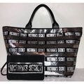Victoria's Secret Bag Stripe and Pouch Purse Silver Sequin Tote Victoria's Secret Bag Stripe and Pouch Purse Silver Sequin Tote Image 2