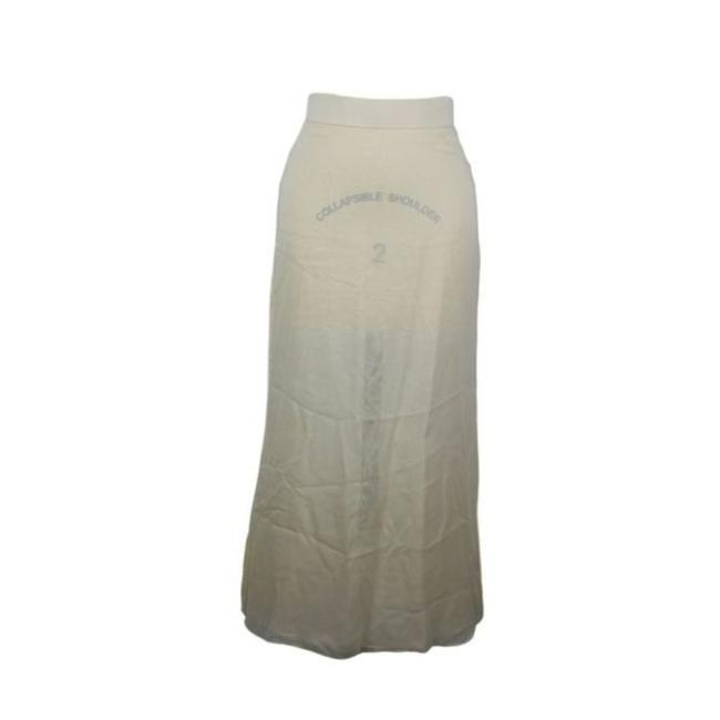 Item - Cream Yellow Silk 38 A-line Ivory Made Italy Skirt Size 8 (M, 29, 30)