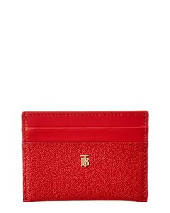Burberry Burberry Sandon Monogram Motif Leather Card Case