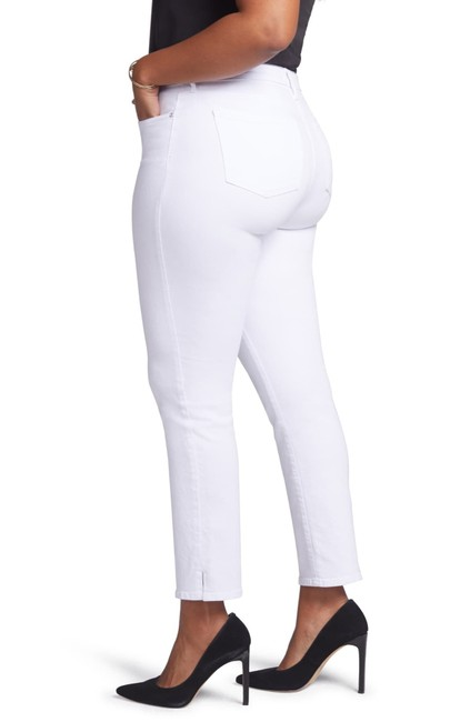 Item - White Light Wash Curves 360 By 26s Or Petite Straight Leg Jeans Size 26 (Plus 3x)