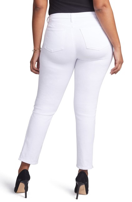 Item - White Light Wash Curves 360 By 16s Or Petite Straight Leg Jeans Size 16 (XL, Plus 0x)