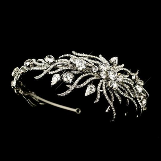 Elegance by Carbonneau Silver Exquisite Antique Plated Rhinestone Headband Tiara
