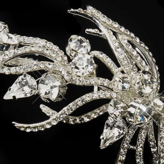 Elegance By Carbonneau Exquisite Antique Silver Plated Rhinestone Wedding Headband