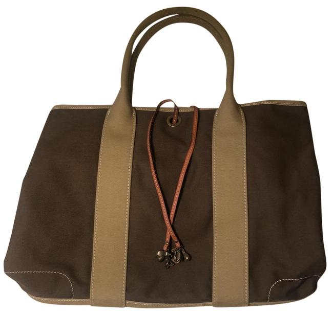 Item - Expandable Green Canvas Tote