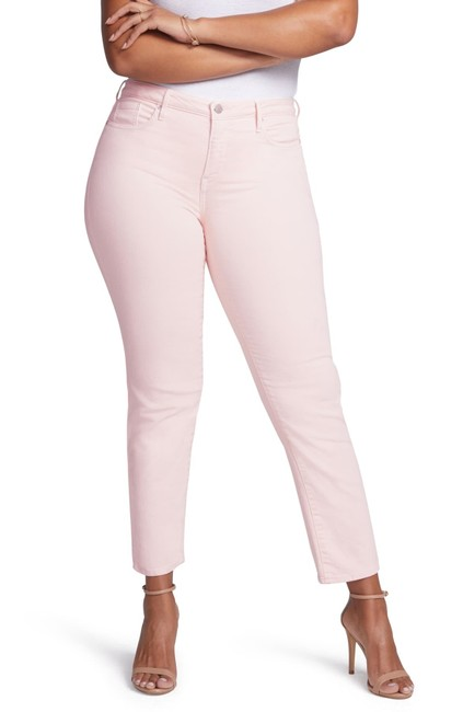 Item - Pink Light Wash Curves 360 By 16s Petite Straight Leg Jeans Size 16 (XL, Plus 0x)