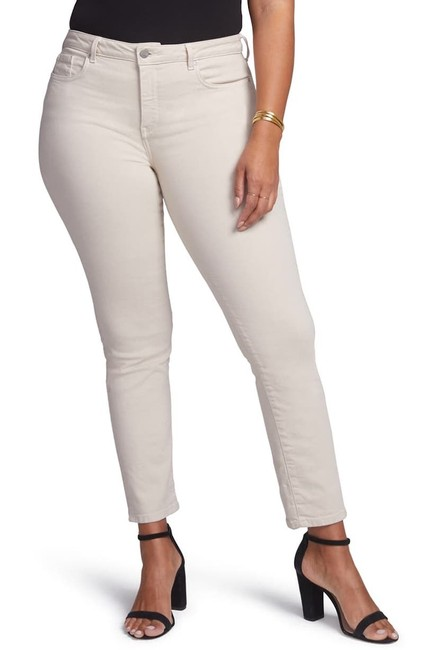 Item - Tan Light Wash Curves 360 By 26s Petite Straight Leg Jeans Size 26 (Plus 3x)