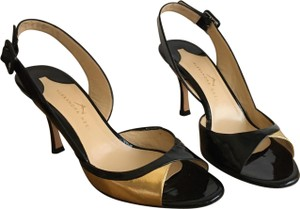 Alexandra Neel Black and Gold Sandals