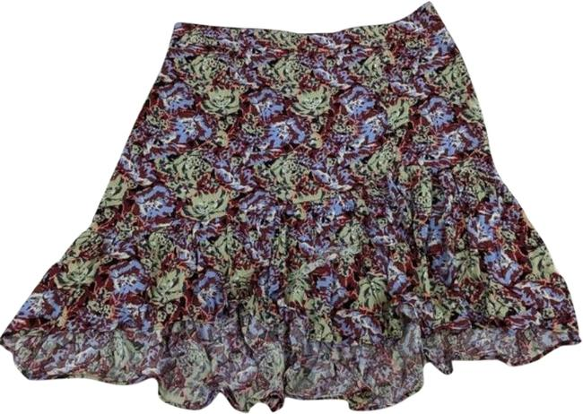 Item - Red Green Nadia Ruffle Floral Peach Pop Combo Skirt Size 8 (M, 29, 30)