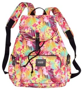 PINK Victoria's Secret Tropical Hawaiian Cosmetic Case Backpack