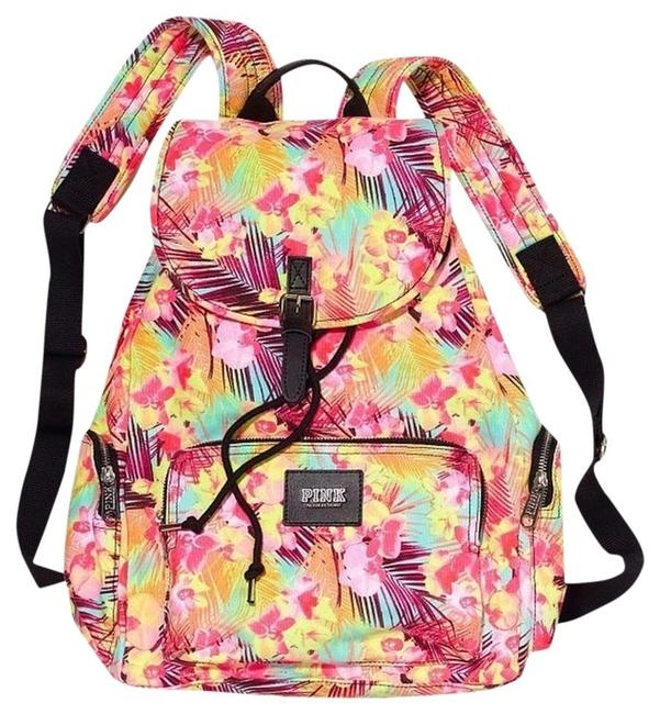 Item - Cosmetic Case Victoria's Secret Floral Hawaiian Cosmetic Case+backpack Multi Color Canvas Backpack